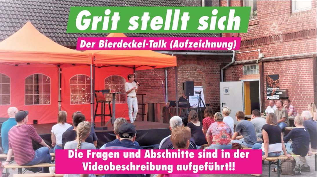 Grit Arndt stellt sich – Der Bierdeckel-Talk